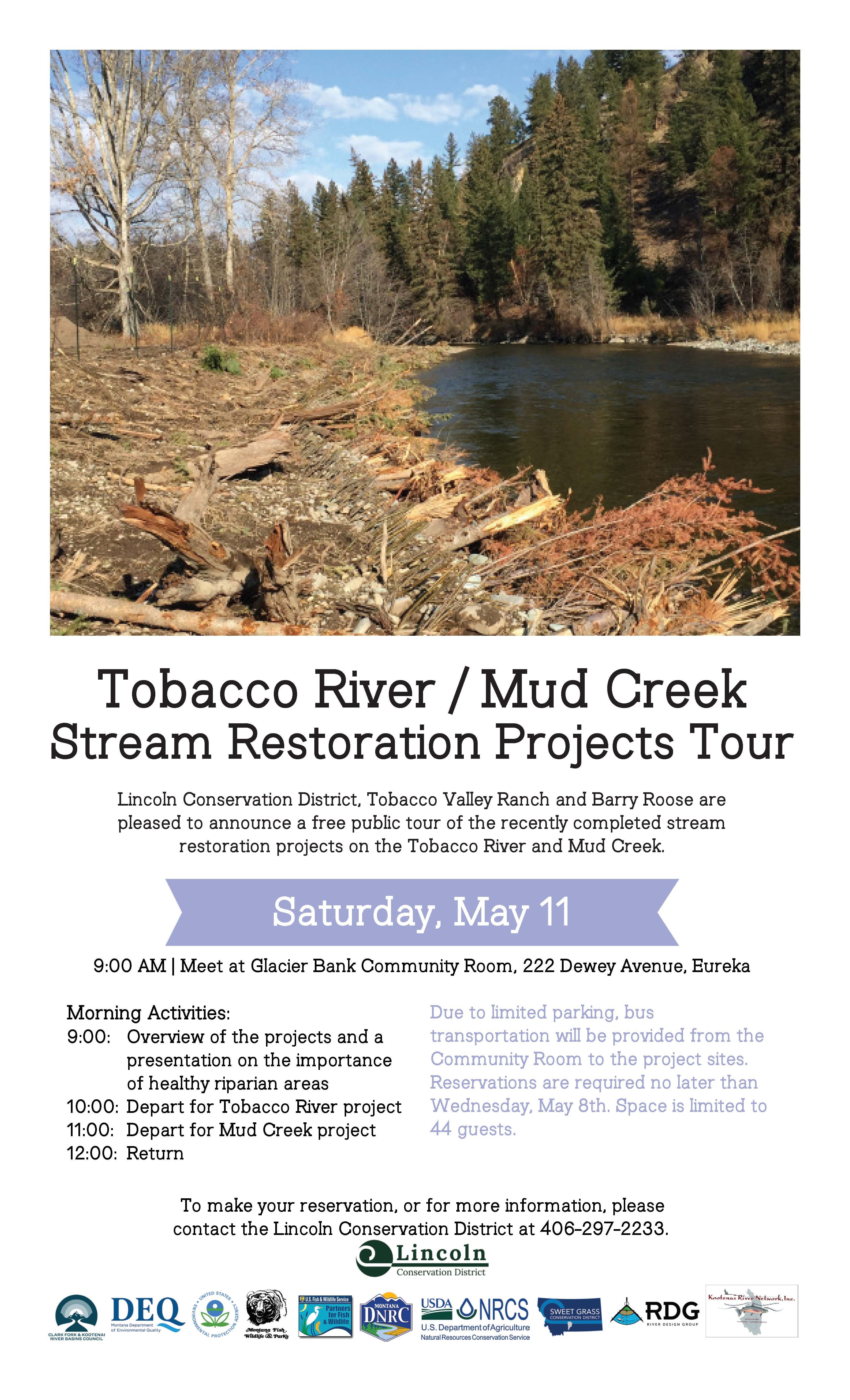 Tobacco River And Mud Creek Projects Restoration Tour